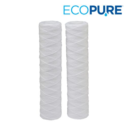 EcoPure Universal Fit String Wound Whole House Water Filter (2-Pack)