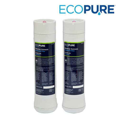 EcoPure Reverse Osmosis Replacement Pre-Filter/Post-Filter Set