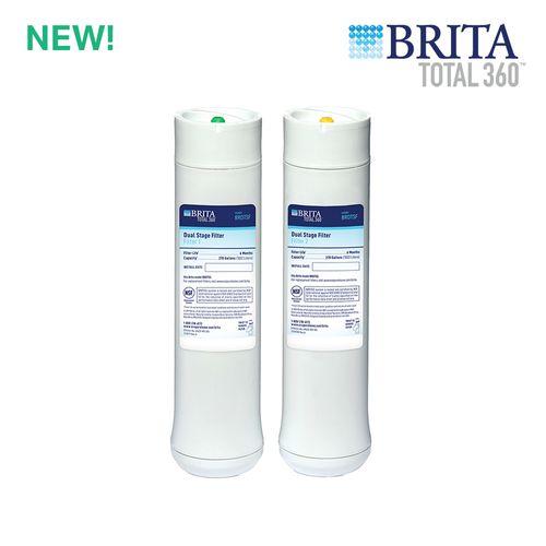 Brita Total360 2-Stage Under Sink Water Filter Replacement Set