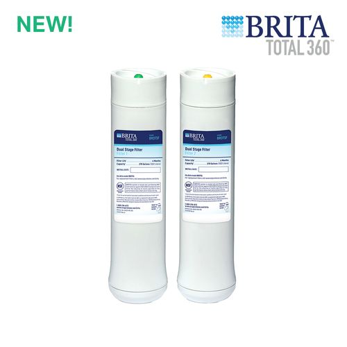 Brita Total360 2-Stage Under Sink Water Filter Replacement Set